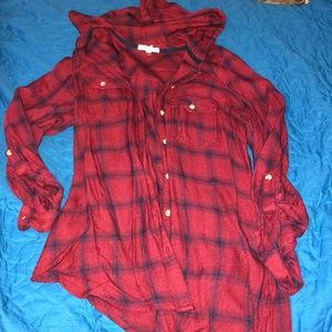 Maurice's Hooded Flannel Sz S